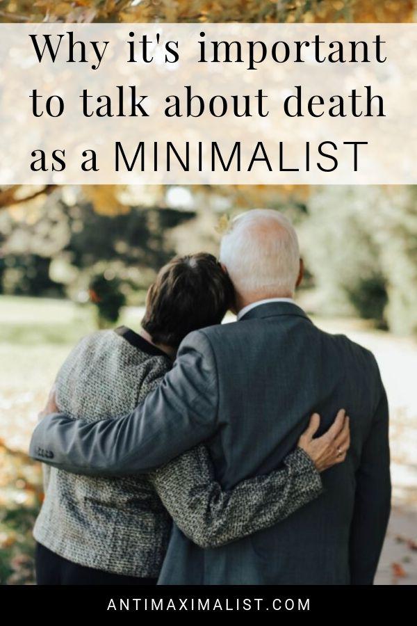 talk about death as a minimalist