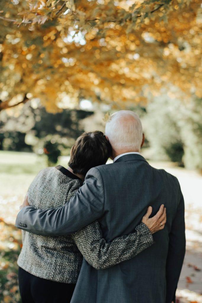 old couple minimalist living