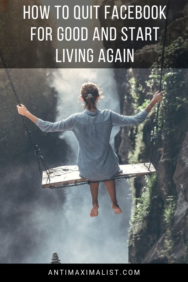 Woman swinging in nature. How to quit facebook for good and start living again
