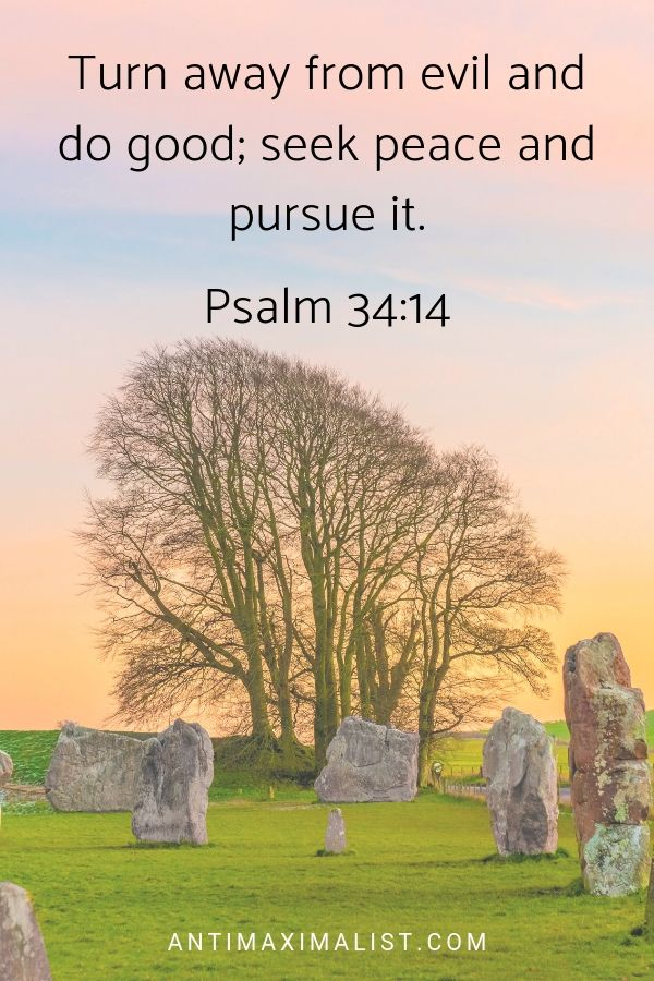 Psalm 34:14. 15 Inner Peace Quotes That Will Calm Your Mind