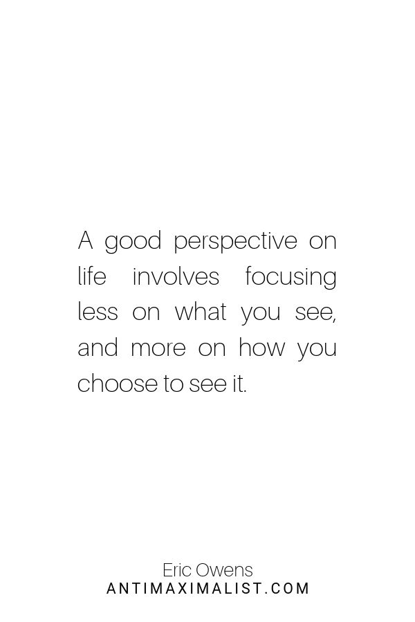 Good perspective. How to be more positive