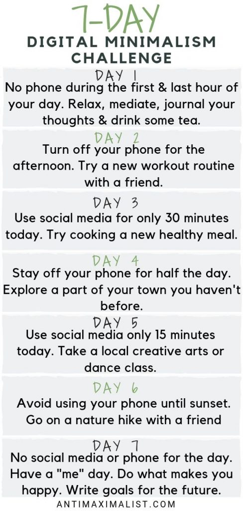 7 day Digital Minimalism Challenge. How To Be Happy Cutting News And Social Media
