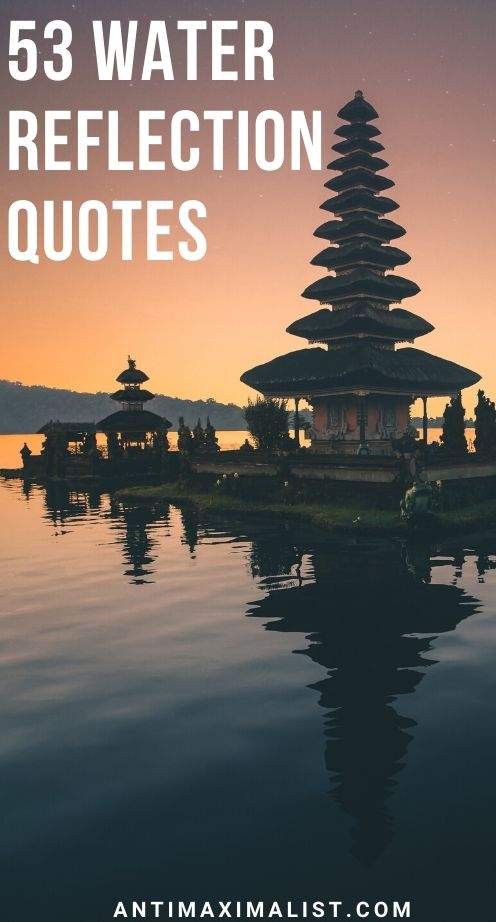 water reflection quotes